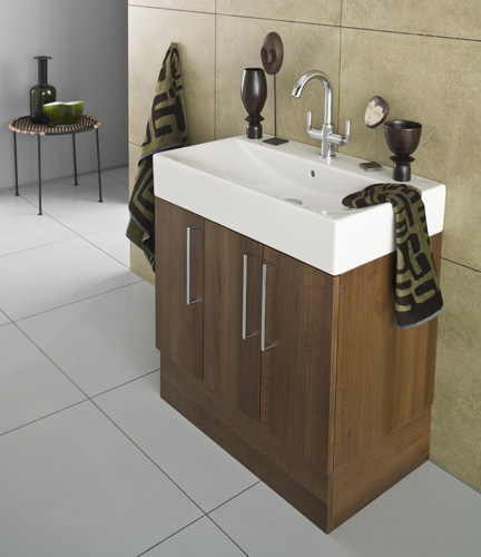 Roca smooth furniture package one nationwide bathrooms for Roca bathroom furniture