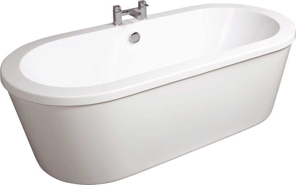Tc grande freestanding double skinned acrylic bath for Tc bathrooms