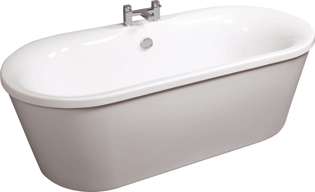 Tc medici freestanding double skinned acrylic bath for Tc bathrooms