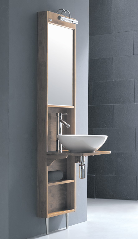 Tc alsina wall unit basin stand and mirror with basin for Tc bathrooms