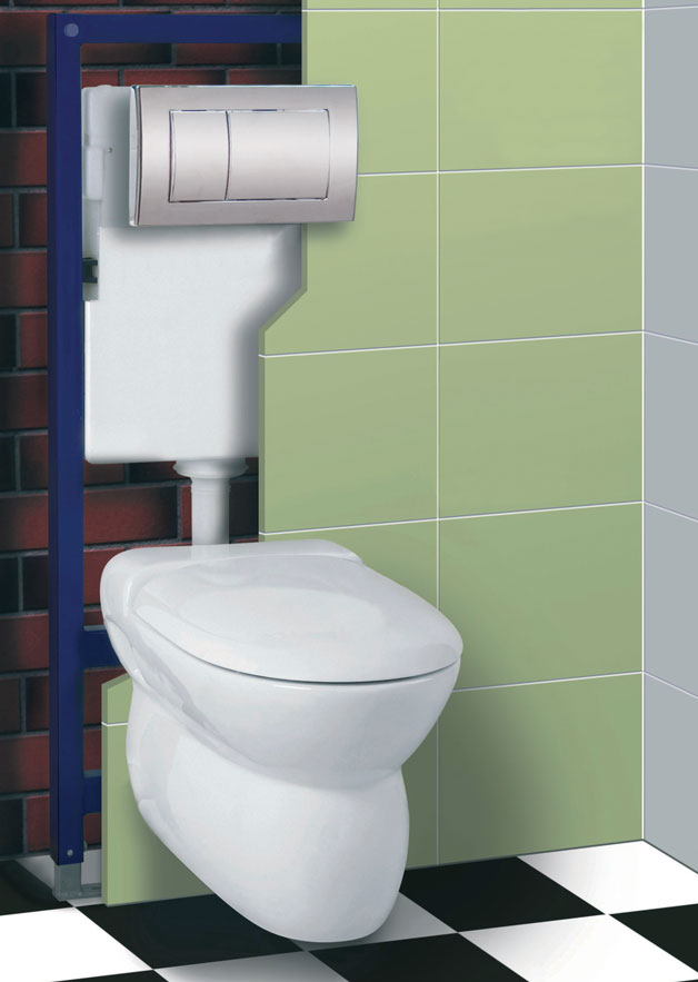 Tc 1200 concealed cistern and mounting frame nationwide for Tc bathrooms