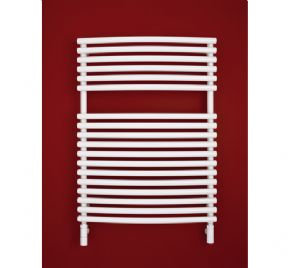 Bisque Bow Fronted 796 x 497 Towel Radiator