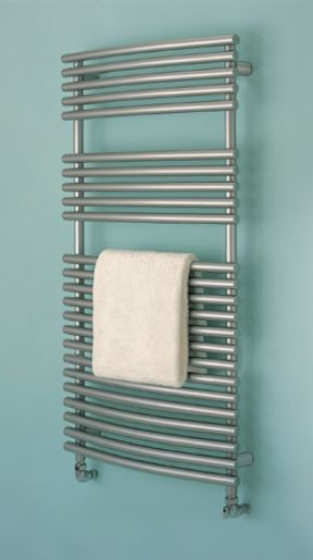 Bisque Bow Fronted 1196 x 497 Towel Radiator