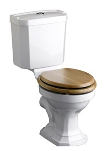 Heritage granley deco close coupled wc optional portrait cistern nationwide bathrooms - Wc opgeschort deco ...