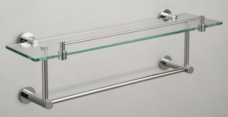 Miller Classic Glass Shelf With Towel Rail Nationwide