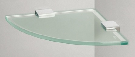 Miller Classic Frosted Glass Corner Shelf Nationwide Bathrooms