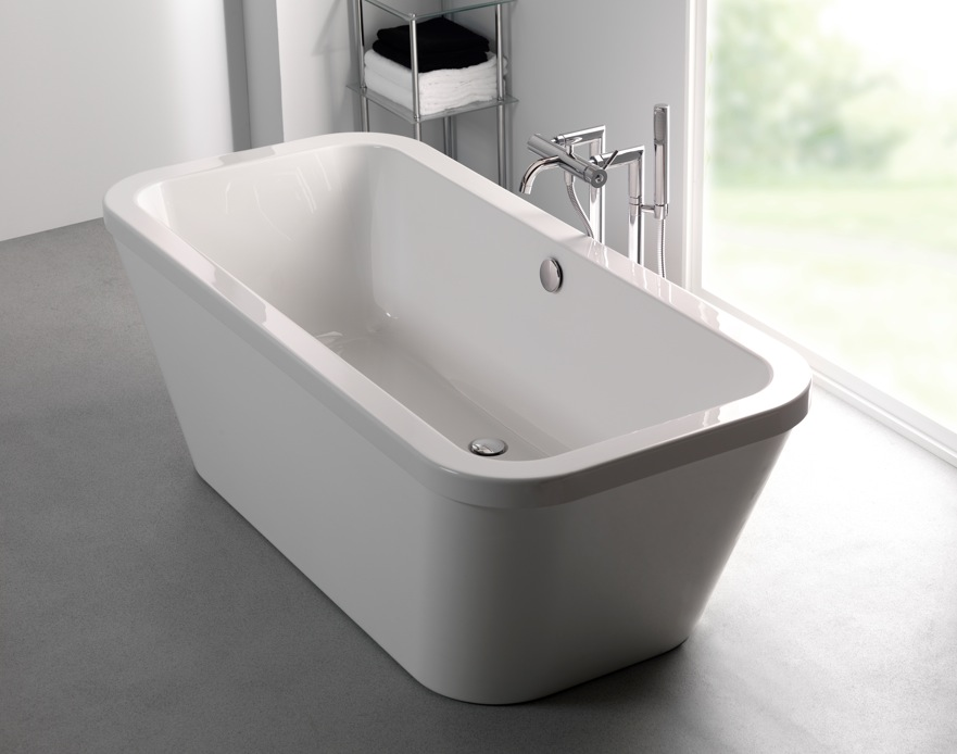 Carron halcyon square freestanding bath nationwide bathrooms for Square baths