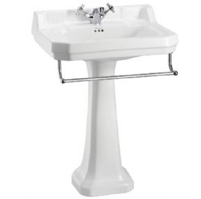 Burlington Edwardian 610 Square Basin For Optional Towel Rail