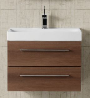 Dansani Luna 2 Drawer 50cm Vanity Unit For Mini Square Washbasins
