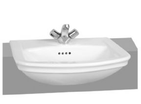 Vitra Serenada 56cm Semi Recessed Basin