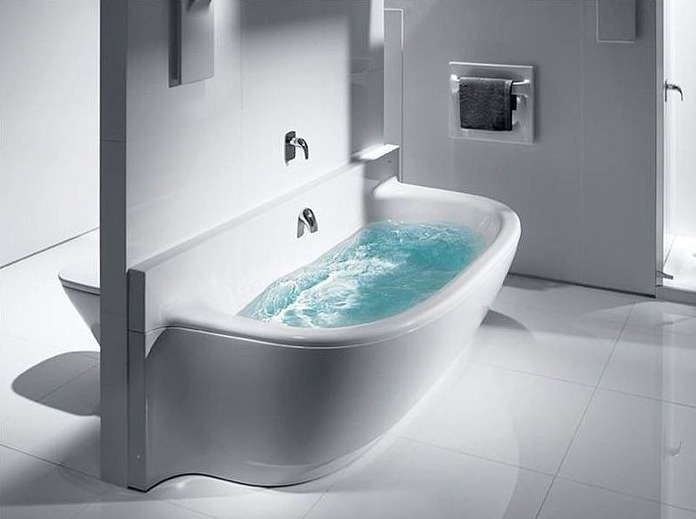 roca frontalis acrylic bath with moulded front panel