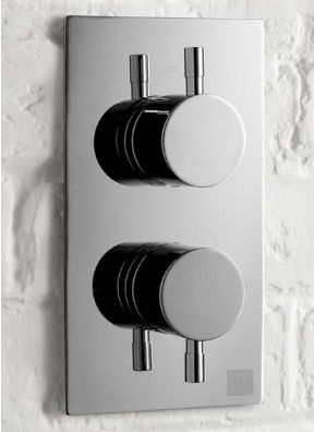 Aqua Dart Thermostatic Concealed Shower Valve With Round Handles