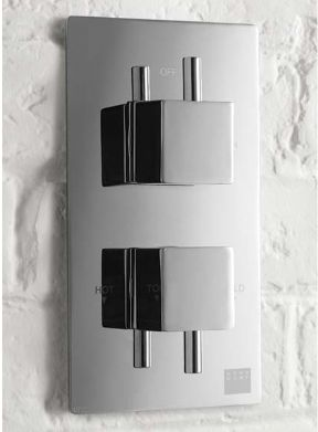 Aqua Dart Thermostatic Concealed Shower Valve With Square Handles