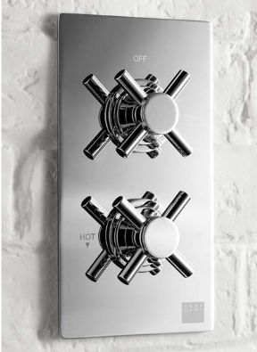 Aqua Dart Thermostatic Concealed Shower Valve With Cross Handles