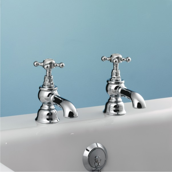 Sanitan Victorian Bath Pillar Taps - Nationwide Bathrooms