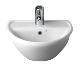Twyford Galerie Optimise Short Projection Semi Recessed Basin