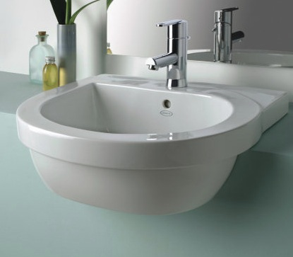 Jacuzzi cognito semi recessed basin nationwide bathrooms - Jacuzzi semi enterre ...