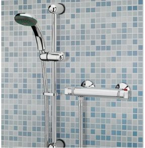 Bristan Solo Thermostatic Bar Shower Valve With Adjustable Riser