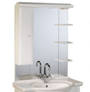 Roper Rhodes Valencia 800 Mirror With Shelves Cupboard And Light Canopy