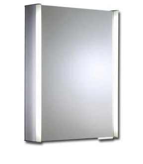 Roper Rhodes Plateau Aluminium Single Door Mirror Cabinet