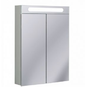 Bauhaus 600 Illuminated Aluminium Bathroom Cabinet