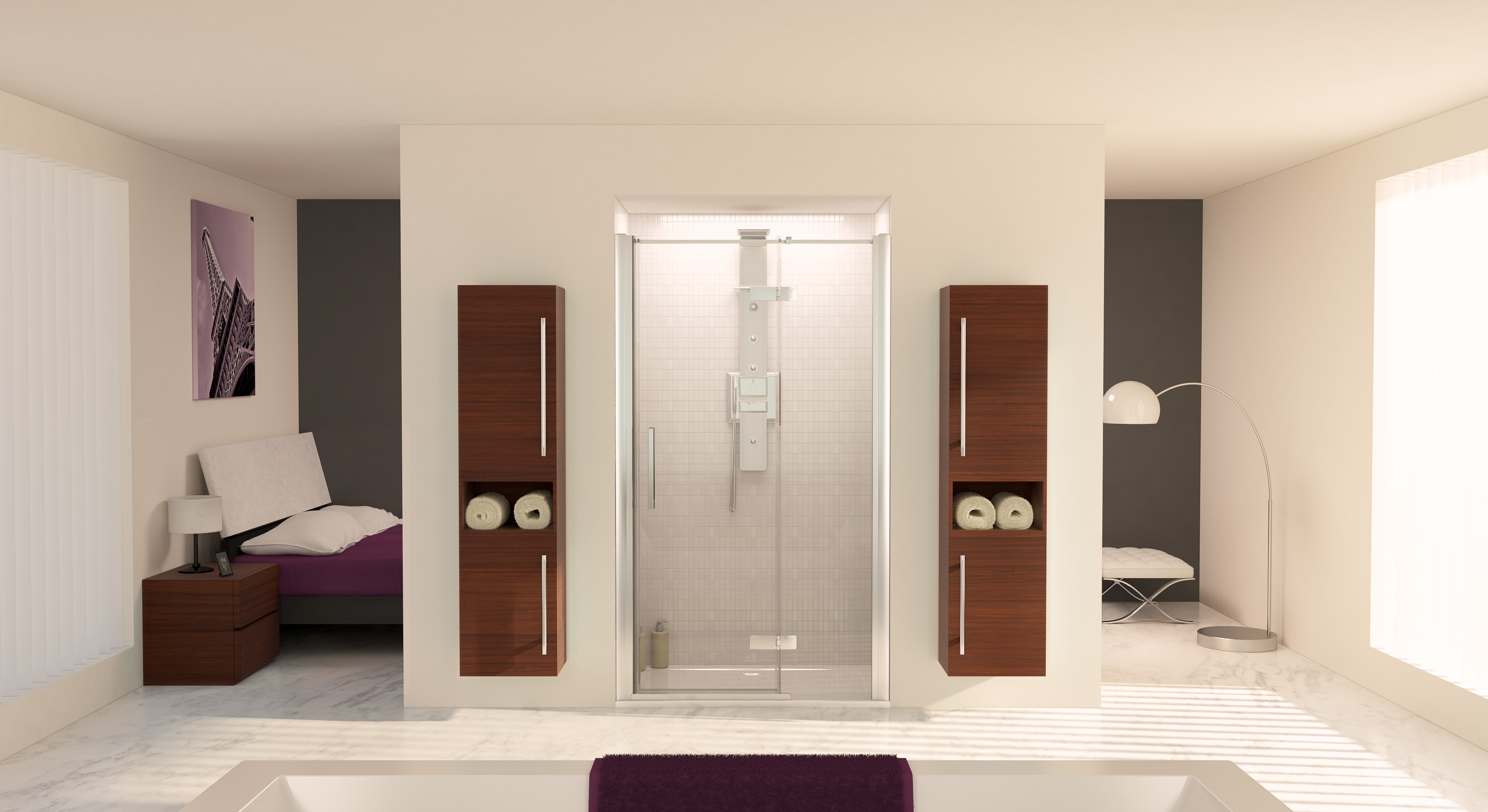 Aqualux aqua8 hinge 1200 pivot door with fixed panel for 1200 hinged shower door