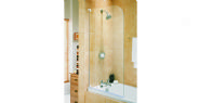 Aqualux Aqua3 Half Frame Radius Bath Screen