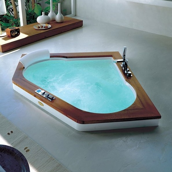 Jacuzzi Aura Corner 1400 Whirlpool Bath - Nationwide Bathrooms