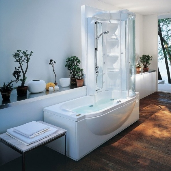 Jacuzzi Bath With Shower jacuzzi amea twin whirlpool shower bath - nationwide bathrooms