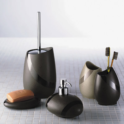 Bathroom origins stone soap dispenser nationwide bathrooms for Bathroom soap dispensers bath accessories