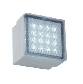 Bathroom Origins Square Recessed Shower Wall Light 100