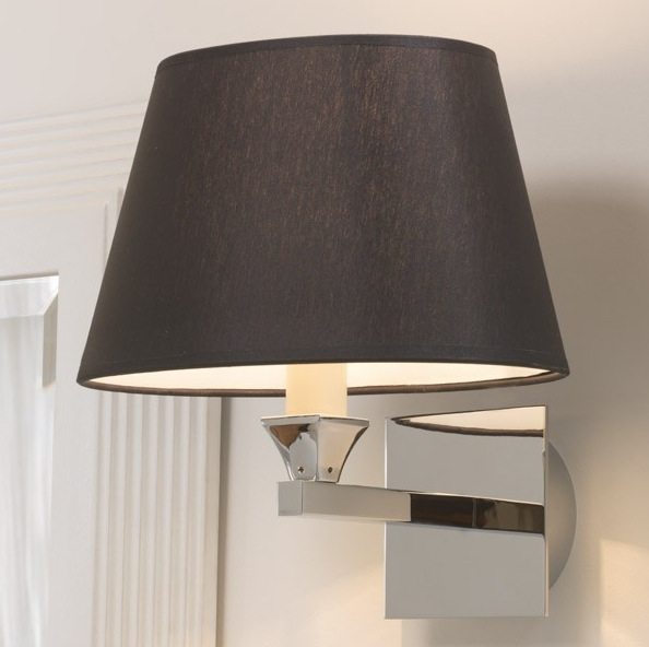 Black Wall Lamp Shades : Imperial Astoria Wall Lamp With Oval Black Shade - Nationwide Bathrooms