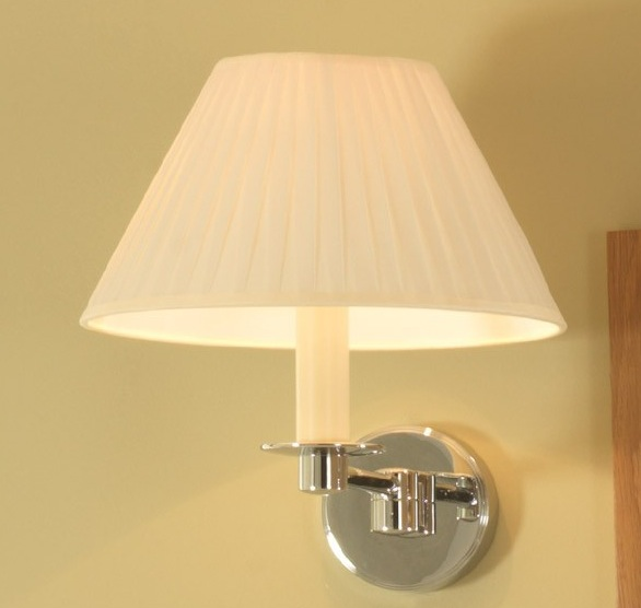 Imperial Brokton Wall Light With Flat Pleated Shade - Nationwide Bathrooms