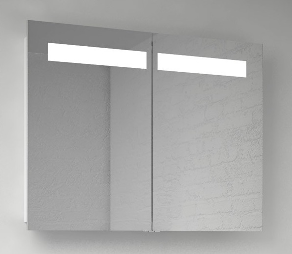 mirror with integrated lighting. Scanbad 90cm Mirror Cabinet With Integrated Lighting