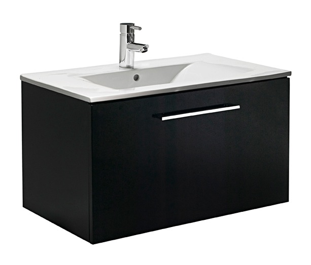 Tavistock Prime Black Gloss 750 Wall Mounted Vanity Unit Nationwide Bathrooms