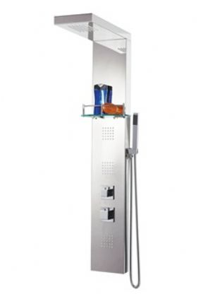 Phoenix Square Stainless Steel Thermostatic Shower Column