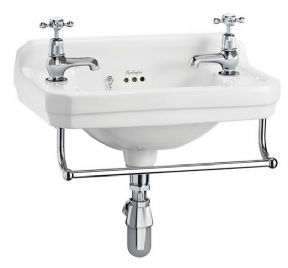 Burlington Edwardian Rectangluar Cloakroom Basin For Optional Towel Rail
