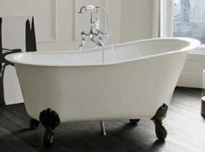 Clearwater Romano Petite Clear Stone Freestanding Bath