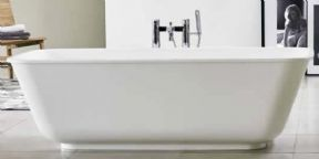 Clearwater Nuvola Clear Stone Freestanding Bath