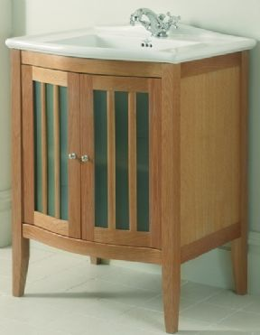 Imperial Westminster Linea Vanity Unit Wood/Frosted Glass Doors